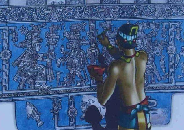 Mayská modř