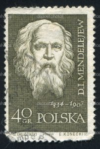 POLAND - CIRCA 1959: stamp printed by Poland, shows Dmitri I. Mendeleev, circa 1959